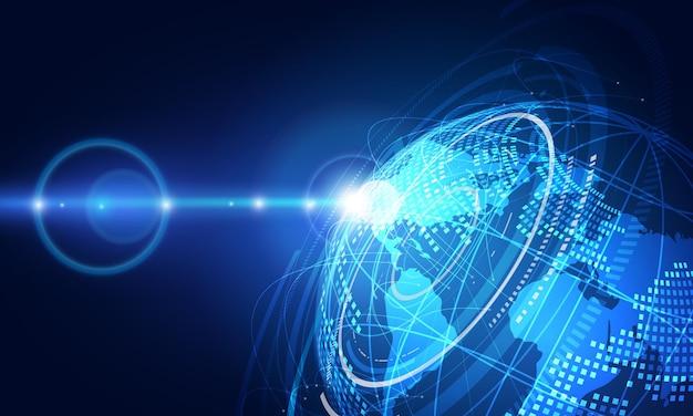 Wereldwijde netwerkverbinding. wereldkaart punt en lijn samenstelling concept van wereldwijde business. vectorillustratie