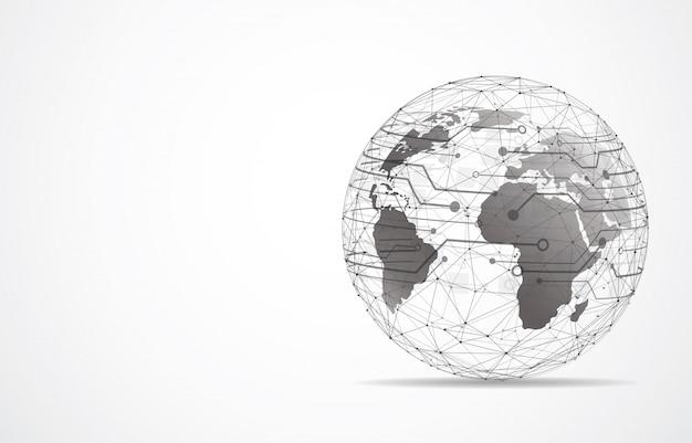 Wereldwijde netwerkverbinding. wereldkaart punt