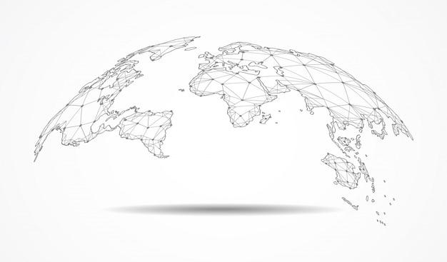 Wereldwijde netwerkverbinding.