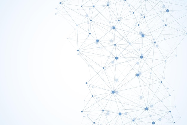 Wereldwijde netwerkverbindingen met punten en lijnen. draadframe achtergrond. abstracte verbindingsstructuur. veelhoekige ruimte achtergrond. vector illustratie.