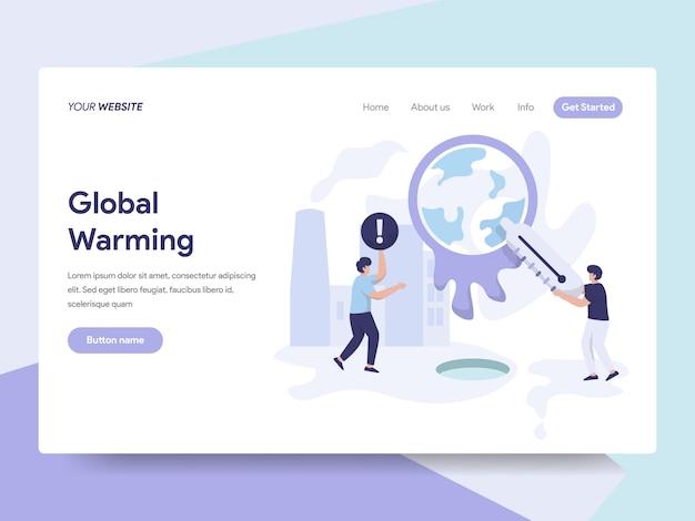 Wereldwijde opwarming illustratie