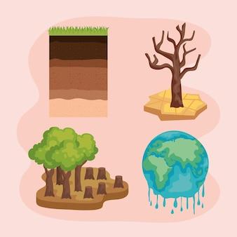 Wereldwijde problemen milieu