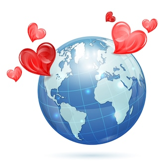 Wereldwijde valentijnsdag
