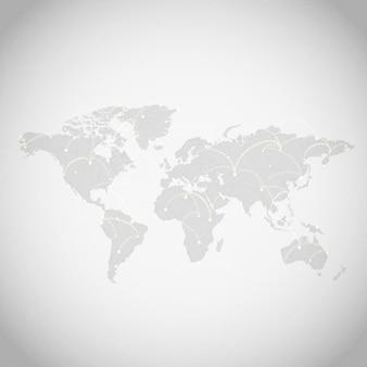 Wereldwijde verbinding grijze achtergrond illustratie