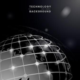 Wereldwijde verbindingen achtergrond