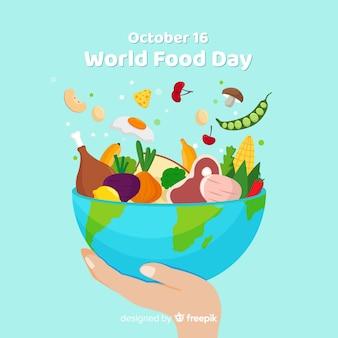 Wereldwijde voedseldagkom heerlijke maaltijd