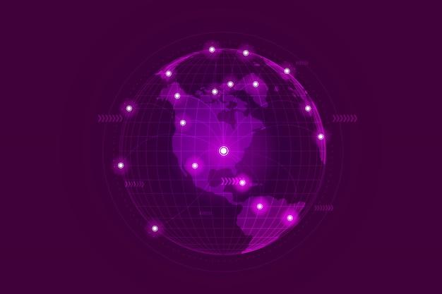 Wereldwijde zakelijke netwerkverbinding.