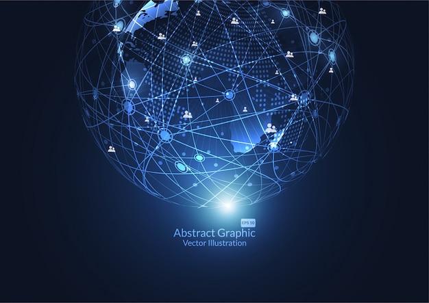 Wereldwijde zakelijke netwerkverbinding