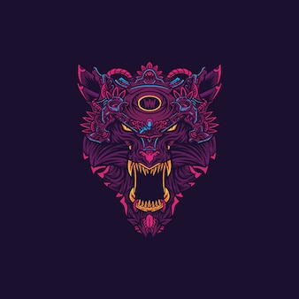 Werewolf hoofd logo afbeelding