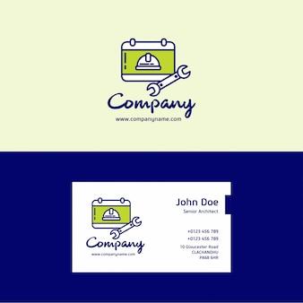 Werk bedrijfslogo en visitekaartje