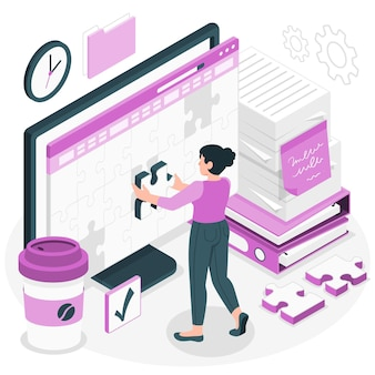 Werk in uitvoering concept illustratie