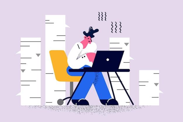 Werk op afstand en freelance concept
