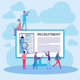 Werk rekrutering concept