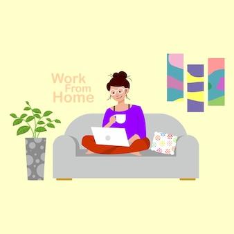 Werk vanuit huis blijf thuis