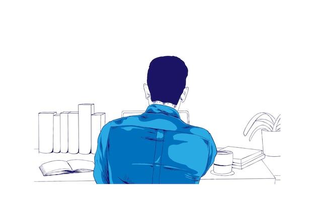 Werk vanuit huis illustratie