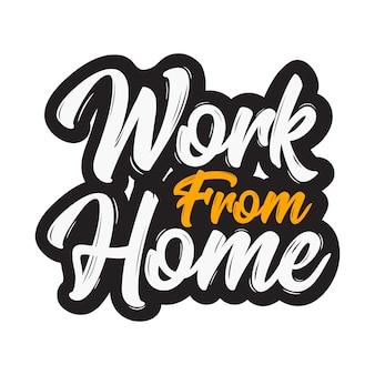 Werk vanuit huis ontwerp