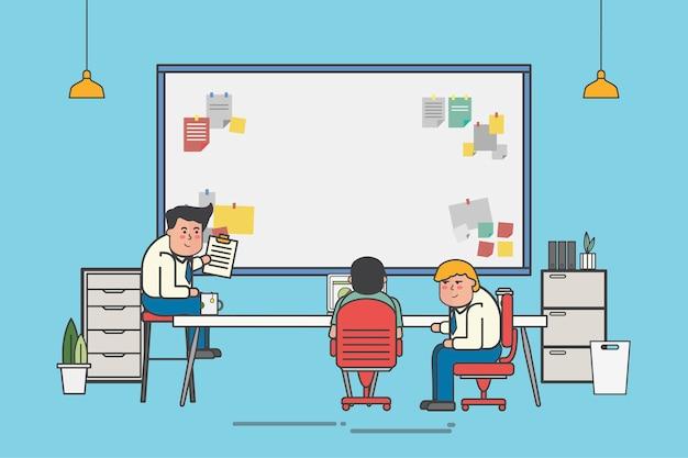 Werk vergadering illustratie