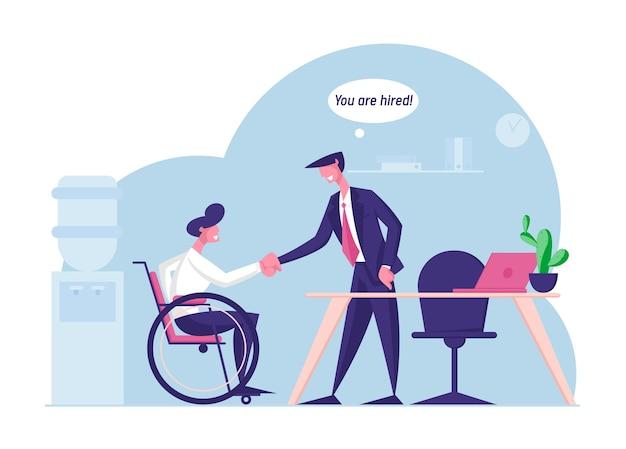 Werk voor mensen met een handicap concept