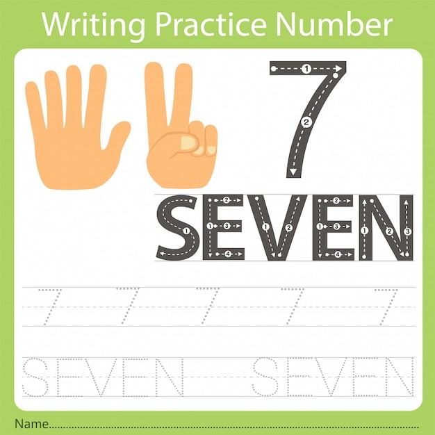 Werkblad schrijven praktijk nummer zeven