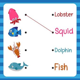 Werkblad vector ontwerp voor kind
