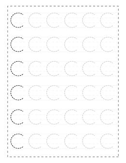 Werkbladen voor alfabetten met hoofdletters voor kleuters en peuters