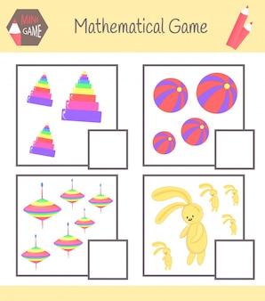 Werkboek over wiskunde voor kleuteronderwijs. leer tellen.