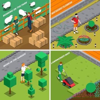 Werken aan farm 2x2 design concept