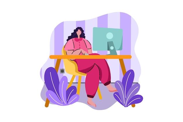 Werken in home web illustratie