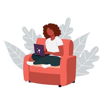 Werken op afstand en studeren op afstand op internet