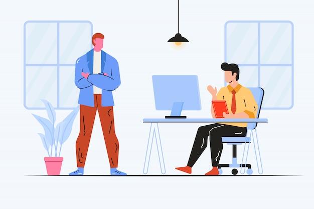 Werken op kantoor illustratie