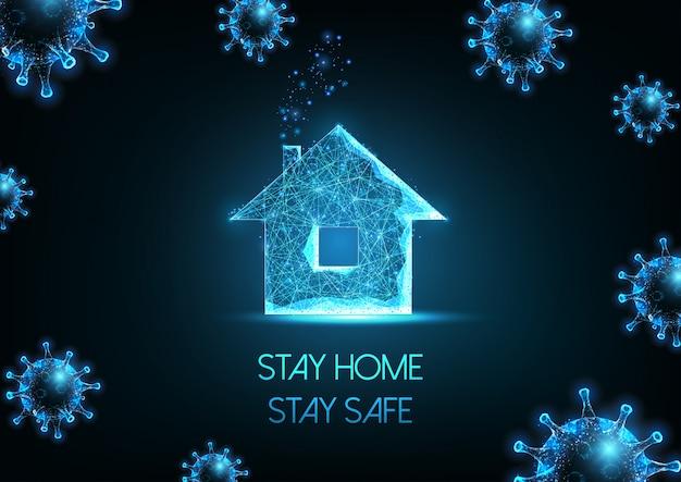 Werken vanuit huis, zelfquarantaine vanwege het pandemie-concept van het coronavirus
