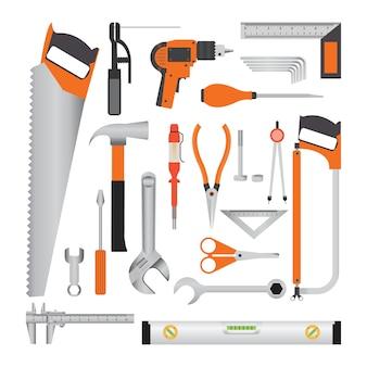 Werkgereedschappen voor reparatie en constructie