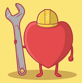 Werknemer hart illustratie
