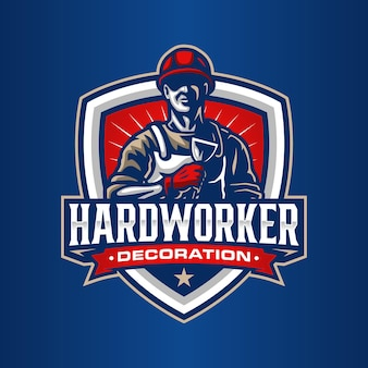 Werknemer logo sjabloon