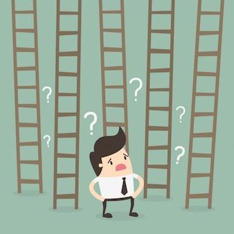 Werknemer twijfelen aan de ladders