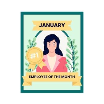 Werknemer van de geïllustreerde maand