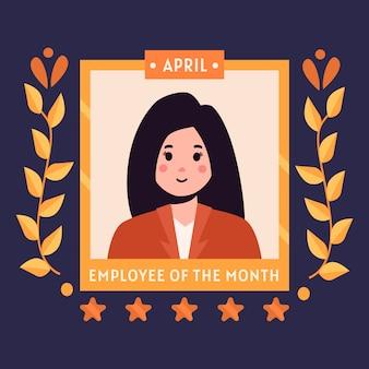 Werknemer van de maand concept illustratie