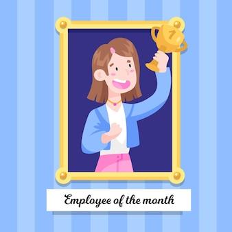Werknemer van de maand concept