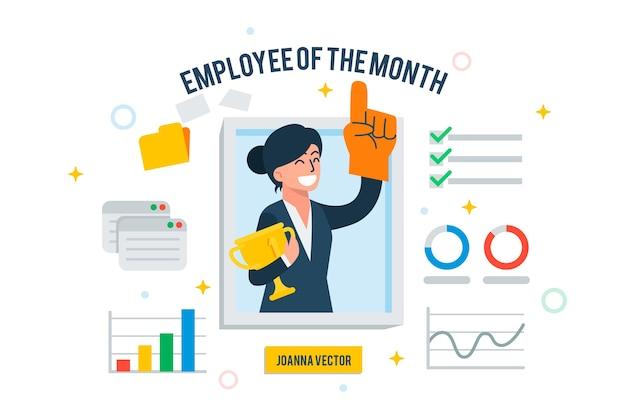 Werknemer van de maand-concept
