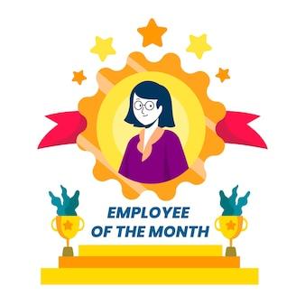 Werknemer van de maand geïllustreerd thema