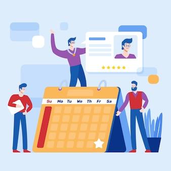 Werknemer van de maand illustratie concept