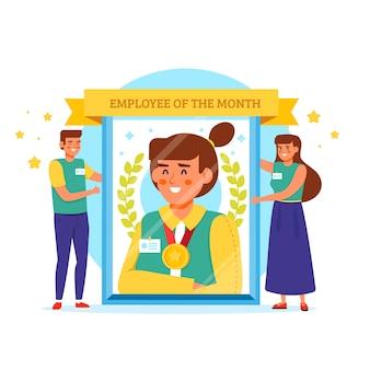 Werknemer van de maand illustratie