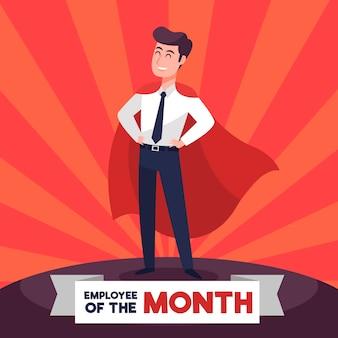 Werknemer van de maand ontwerp
