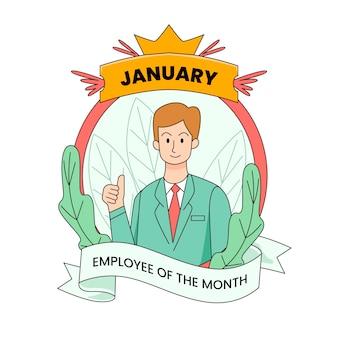Werknemer van de maandillustratie