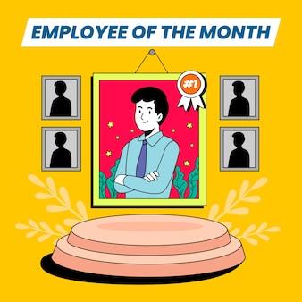Werknemer van het maandontwerp voor illustratie