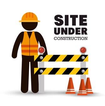 Werknemer waarschuwing site in aanbouw