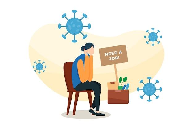 Werknemers hebben een baanillustratie nodig