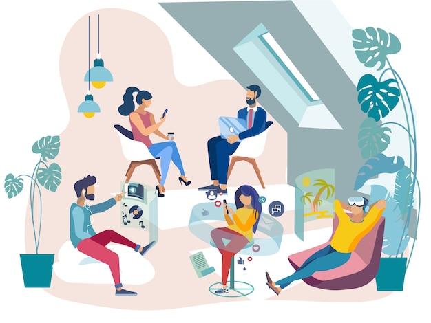 Werknemers hebben rust op kantoor