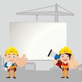 Werknemers met whiteboard