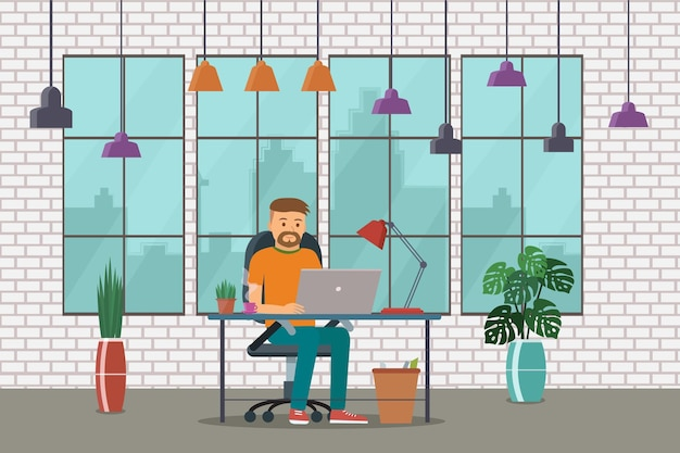 Werkplek, creatief kantoor